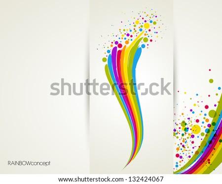 illustration with rainbow
