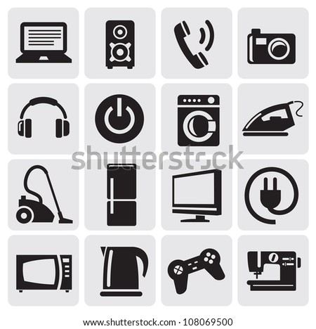 illustration with set of electronic devices