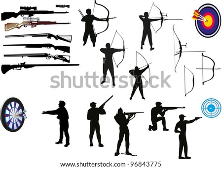 illustration with set of men isolated on white background