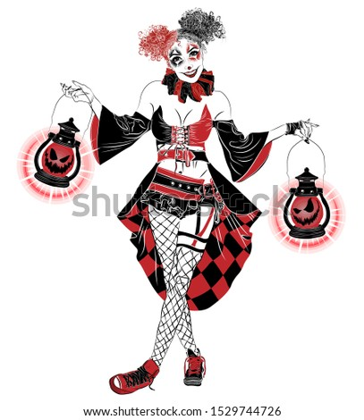 illustration with sexy joker