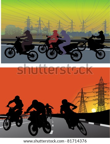illustration with silhouettes
