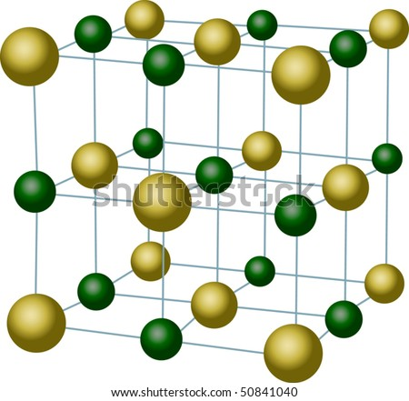 Illustration With Sodium Chloride Crystal Structure - 50841040 ...