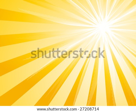 Illustration with sunburst