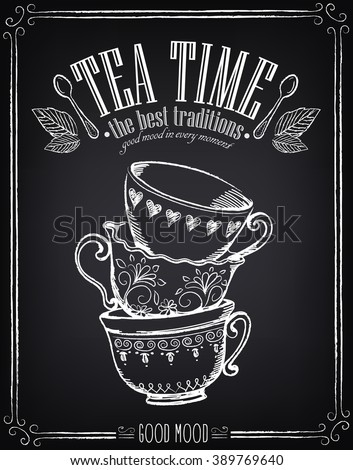 illustration with the words tea
