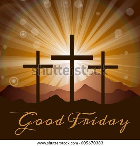 illustration with three crosses