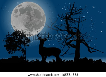 illustration with trees and
