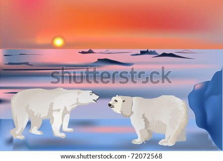 illustration with two bears in