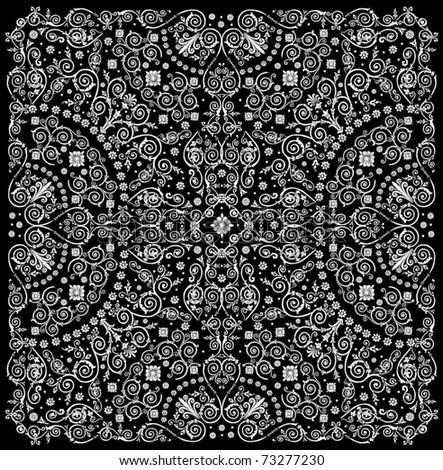illustration with white design isolated on black background