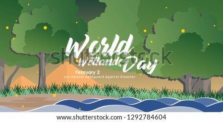illustration world wetlands day