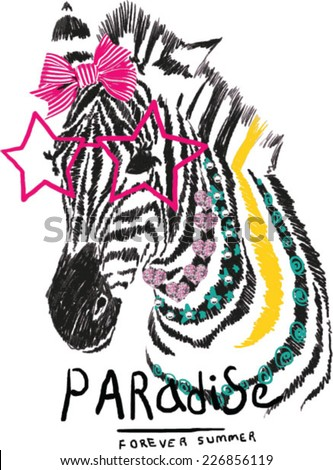 illustration zebra