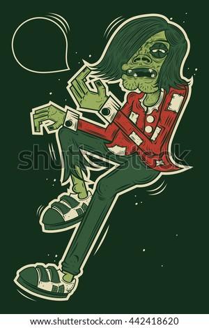 illustration zombie for street