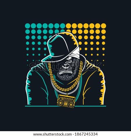 illustrations gorilla mascot