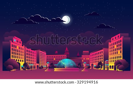 illustrations night city