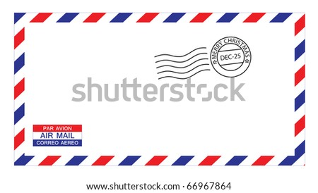 write airmail on envelope