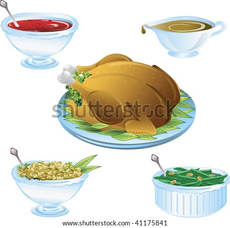 Illustrations of different thanksgiving icons