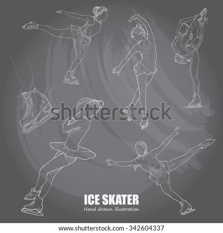 illustrations of figure skater