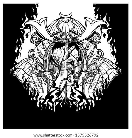 illustrations of samurai