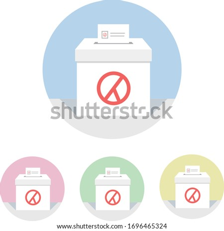 Illustrations related to elections or voting. Voting is the flower of democracy. Let's all vote. Stock fotó ©