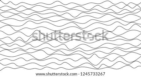 illustrations wavy of vector