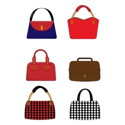 Illustrative design of various shapes of women's bags