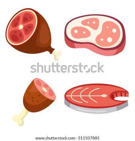 Illustrator of fish and meat