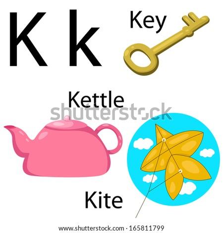 Illustrator of K alphabet Stock foto ©