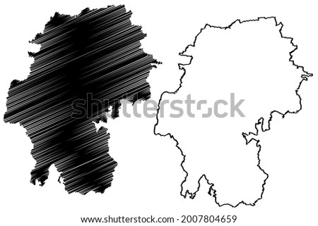 Ilm-Kreis district (Federal Republic of Germany, rural district, Free State of Thuringia) map vector illustration, scribble sketch Ilm Kreis map Stock foto ©