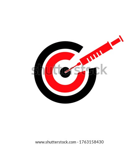 Ilustration vector graphic of Health Target ストックフォト ©