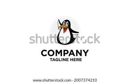 Ilustration vector graphic of Pinguin logo pinguin icon pinguin cartoon Stockfoto ©