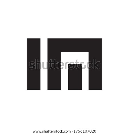 IM letter logo design vector Stok fotoğraf ©