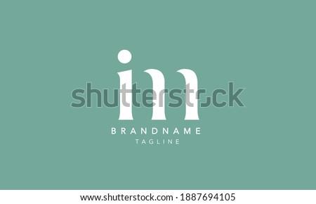 IM Lowercase Letter Initial Icon Logo Design Vector Illustration Stok fotoğraf ©