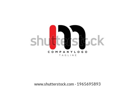 IM MI I AND M Abstract initial monogram letter alphabet logo design Stok fotoğraf ©
