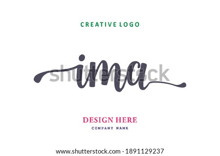 IMA lettering logo is simple, easy to understand and authoritative Stock fotó ©