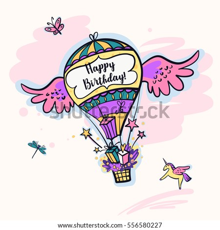 Image balloon for happy birthday present