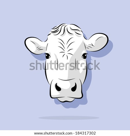 image graphic style of cow  isolated on white background