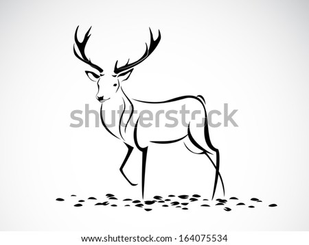 image graphic style of deer isolated on white background