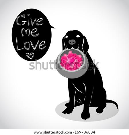 image graphic style of dog isolated on white background