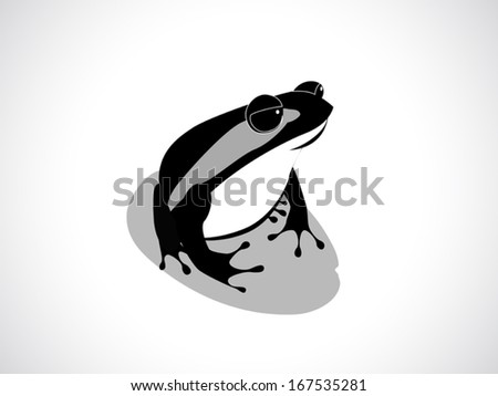 image graphic style of frog isolated on white background