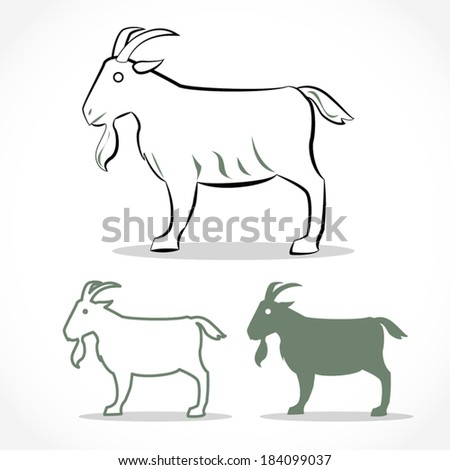 image graphic style of goat  isolated on white background