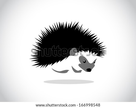 image graphic style of hedgehog isolated on white background