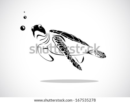 image graphic style of turtle isolated on white background