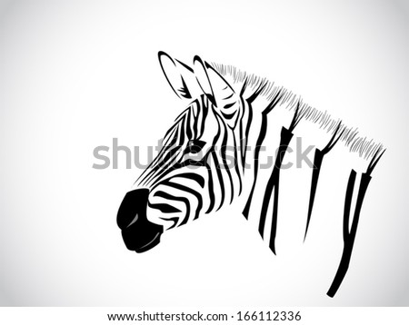 image graphic style of zebra isolated on white background