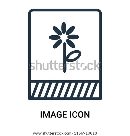 Image icon vector isolated on white background, Image transparent sign , outline linear symbol or thin lined pictogram