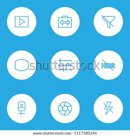image icons line style set with