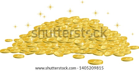 Image illustration of many coins piled up