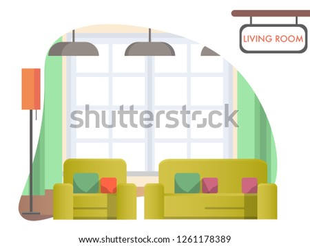 image living room at home cozy