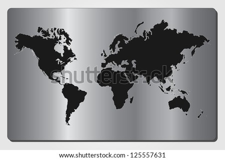 Image of a black and silver world map.