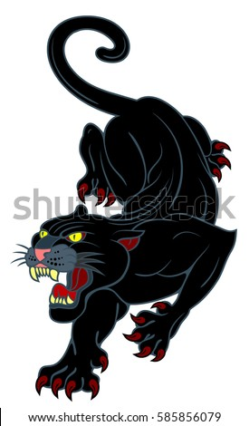 image of a black panther  with
