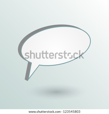 Image of a chat bubble on a colorful background.