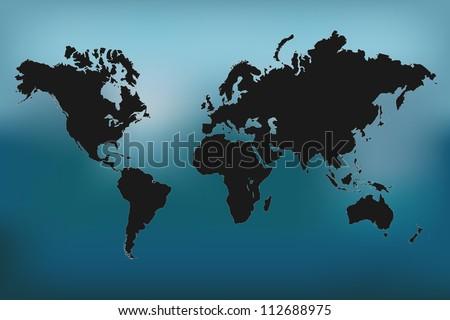 Image of a colorful world map vector illustration.